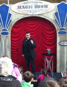 Magician Steve Faulkner performs the Classic Miser's Dream